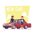 new car buying vector image