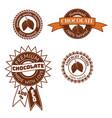 set of vintage badge label logo template vector image