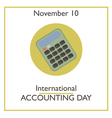 Accounting Day vector image vector image