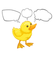 A baby duck with empty callouts vector image vector image