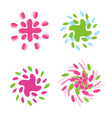 set of abstract spinning logos collection vector image