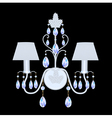 sconces with crystal pendants vector image vector image
