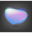 Abstract Metal Background With Blue Speech Bubble vector image vector image