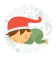 Cute baby boy sleeping vector image vector image