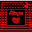 White heart trendy Flat design vector image