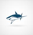 shark attack logo sign vector image vector image