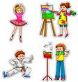 fun hobbies vector image vector image