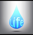 Water is Life vector image