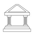 bank building financial business site web vector image