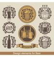 beer banners vector image