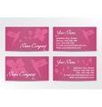 Business Cards Design with Hummingbird on Pink vector image