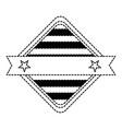 diamond with stripes icon vector image