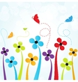 Floral card with butterflies vector image