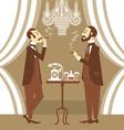 gentlemen in club vector image