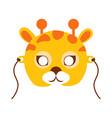 Giraffe animal carnival mask childish masquerade vector image