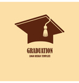 Graduation cap logo design vector image