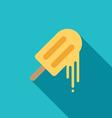 Melting ice cream icon flat design vector image