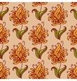 Orange flowers retro seamless pattern vector image