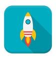 Rocket app icon with long shadow vector image