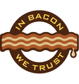 Bacon Symbol vector image