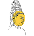 Face of Buddha Hand-drawn vector image