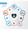 drug icons set collection of polyclinic tent vector image
