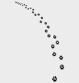 Trail of dogs vector image