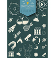 Science and technology symbols vector image