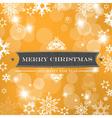 christmas orange background vector image vector image