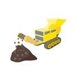 Coal conveyor crusher cartoon icon vector image