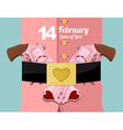 14 February Valentines day Military clothing and a vector image