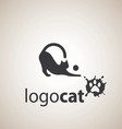 cat logo 2 vector image