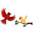 Bird flying vector image
