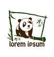 Cute panda icon vector image