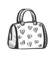 doodle purse vector image