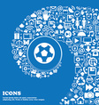 Football soccerball icon sign Nice set of vector image