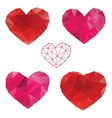 Heart Love Set of design elements vector image