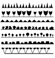 interesting set of brushes vector image