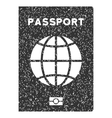World Passport Icon Rubber Stamp vector image