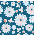 Seamless floral hand-drawn background vector image vector image