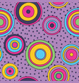 psychedelic circles seamless pattern vector image