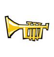 Trumpet cartoon icon vector image