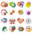 collection of decorative floral elements vector image vector image
