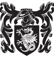 heraldic silhouette No6 vector image