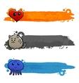 Graffiti Characters Flat Banner Set vector image