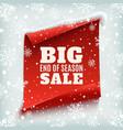 Big end of season sale poster vector image