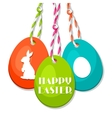 Happy Easter greeting card with decorative eggs vector image vector image