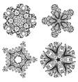 Decorative Floral Ornament5 vector image vector image