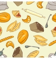 background Bread theme vector image