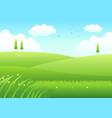 cartoon of meadows vector image